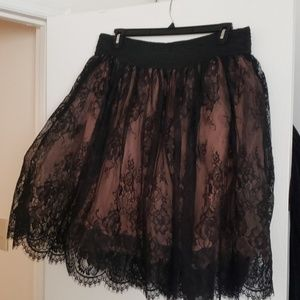 Beautiful lace black skirt for any occasion
